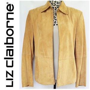 100% Suede Liz Claiborne Lightweight Coat